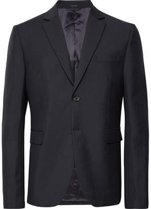 Acne Studios Midnight-Blue Brobyn Wool And Mohair-Blend Suit Jacket