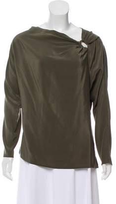 Ralph Lauren Embellished Long Sleeve Blouse