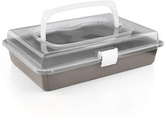 """Martha Stewart Collection Nonstick 9"""" x 13"""" Cake Pan With Carrier, Created for Macy's"""