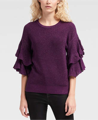 DKNY Ruffle-Sleeve Sweater