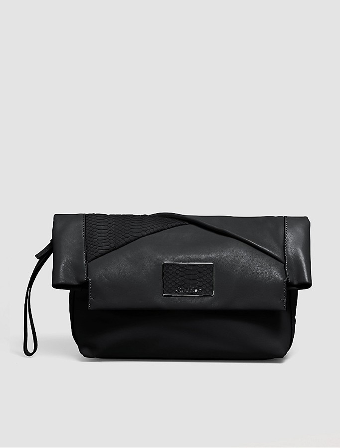 Calvin Klein Jillian Leather Clutch
