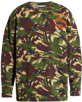 OFF-WHITE Camouflage-print cotton-jersey sweatshirt $372 thestylecure.com