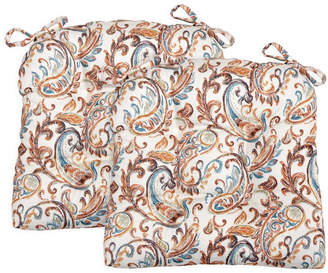 Arlee Home Fashions Paisley Set of Two Chair Pad Seat Cushions