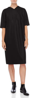Jil Sander Black Wool Shift Dress