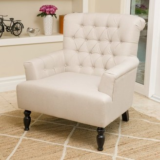 BEIGE Noble House Moterey Fabric Club Chair