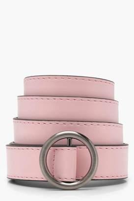 boohoo Ring Detail Buckle Belt