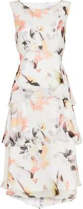 WallisWallis TALL Blush Floral Print Overlay Dress