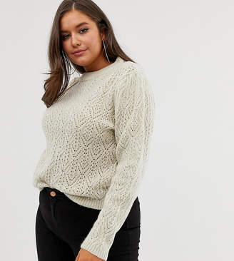 Asos DESIGN Curve sweater with stitch detail