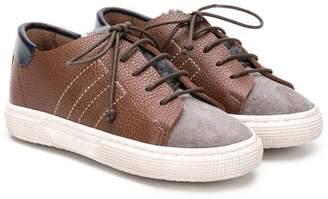 Pépé panelled lace-up sneakers