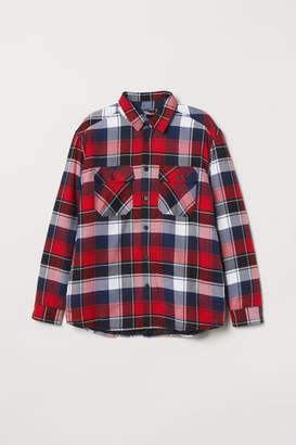 H&M Padded Shirt Jacket - Blue