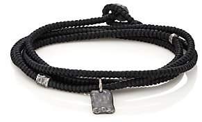 M. Cohen Men's Tag On Cord Wrap Bracelet-Black
