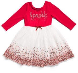 Little Girls Sparkle Holiday Tutu Dress