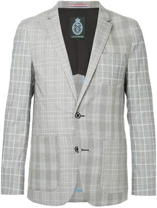 GUILD PRIME patchwork check blazer