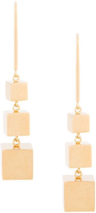 CelineCéline 3D cube pendant earrings
