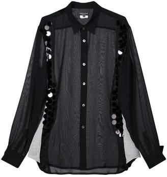 Comme des Garcons sequin embellished sheer shirt