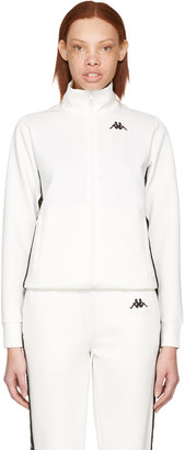 Gosha Rubchinskiy White Kappa Edition Logo Sleeve Track Jacket $165 thestylecure.com