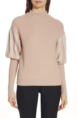 Jonathan Simkhai Knit Puff Sleeve Sweater
