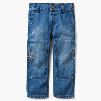 Gymboree Paint Splatter Straight Jeans