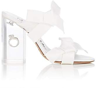 Maison Margiela Women's Ring-Detail Satin Sandals - White