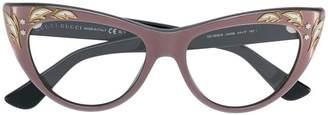 Gucci embellished cat eye glasses