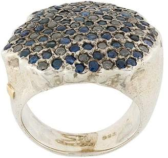 Rosa Maria pave diamond and sapphire ring