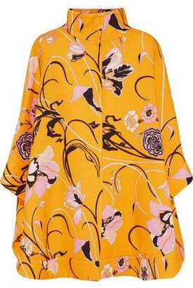 Emilio Pucci Floral-Print Wool And Silk-Blend Jacket
