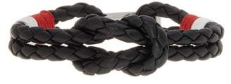 Ben Sherman Stainless Steel Braided Leather Bracelet