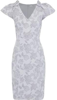 Badgley Mischka Metallic Cloque-jacquard Dress