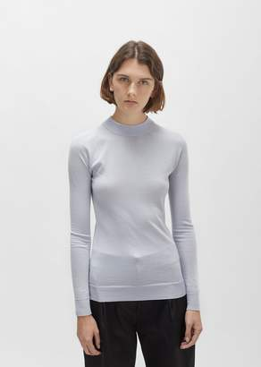 Lemaire Merino & Silk High-Neck Sweater Lilac