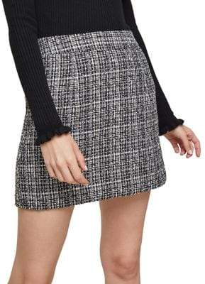 Miss Selfridge Two-Tone Boucle Mini Skirt