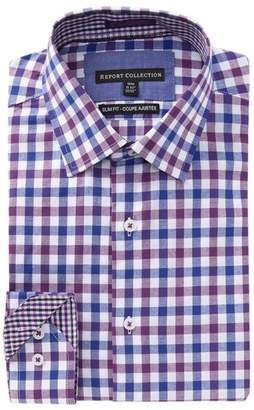 Report Collection Check Slim Fit Dress Shirt