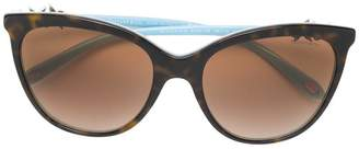 Tiffany & Co. Eyewear tortoiseshell-effect cat-eye sunglasses