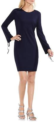 Vince Camuto Lace-Up Sleeve Ribbed Dress