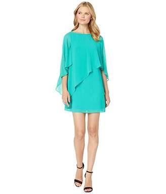 Vince Camuto Asymmetrical Cape Dress