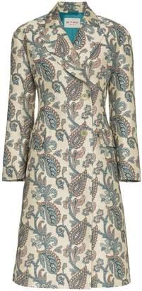 Etro jacquard print single breasted coat