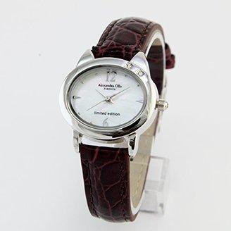 Alessandra Olla (アレッサンドラ オーラ) - [アレサンドラオーラ]Alessandra Olla ネコモチーフ 腕時計 AO2222BR スワロフスキー2石 シェル レディース