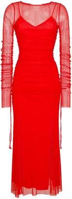 Diane von Furstenberg Fringed mesh dress