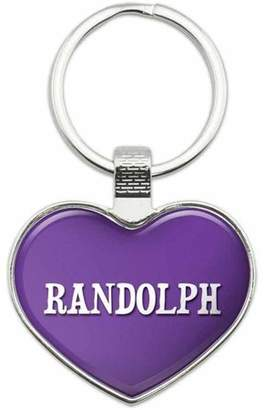 Randolph Generic Names Male Metal Heart Keychain Key Chain Ring, Purple