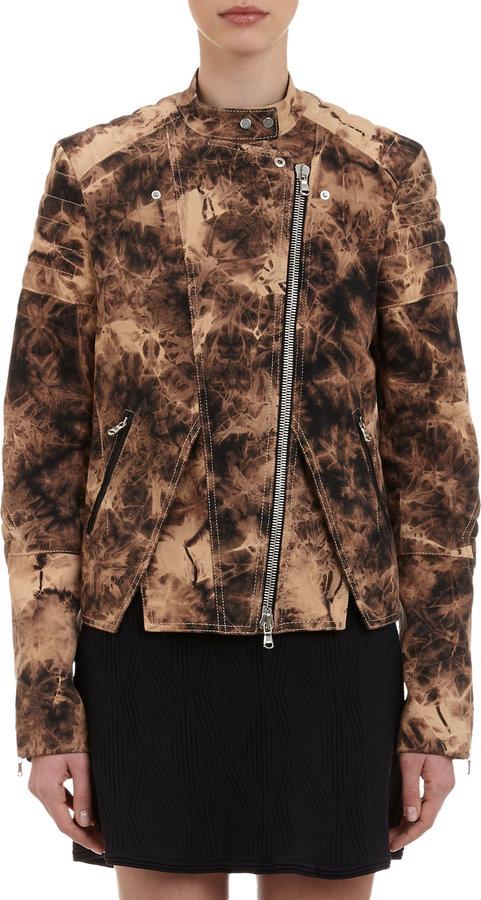 3.1 Phillip Lim Tie-dye Twill Moto Jacket