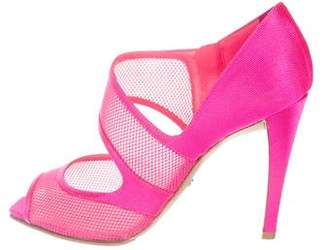 Christian Dior Mesh Peep-Toe Pumps