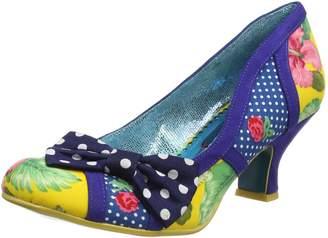 Irregular Choice Poetic Licence Women's Shake It Blue and Yellow Low Heel Pump