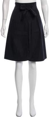Saint Laurent Knee-Length Wrap Skirt