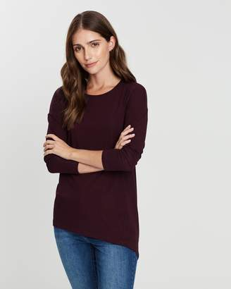 Privilege Asymmetric Hem Long Sleeve