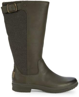 UGG Janina Leather & Textile Rain Boots