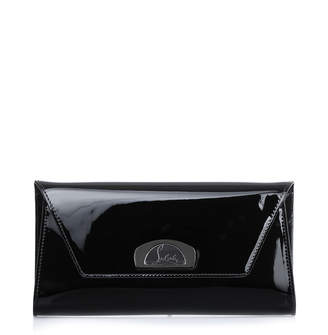 Christian Louboutin Vero Dodat black patent leather clutch