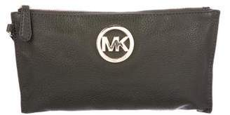 MICHAEL Michael Kors Leather Zip Pouch