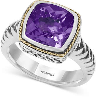Effy Balissima by Amethyst Ring (4 ct. t.w.) in 18k Gold and Sterling Silver