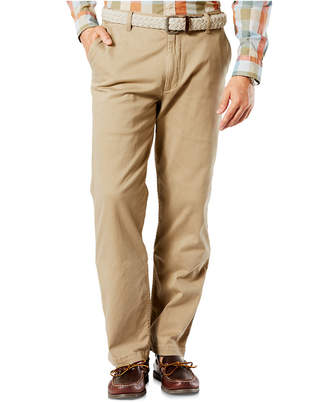 Dockers Classic Fit Washed Khaki Stretch Pants D3