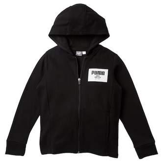 Puma Fleece Zip Up Hoodie (Big Boys)