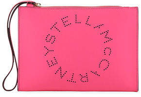 Stella McCartney Perforated Logo Clutch Bag